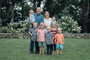 Jim & Lisa with Grandchildren